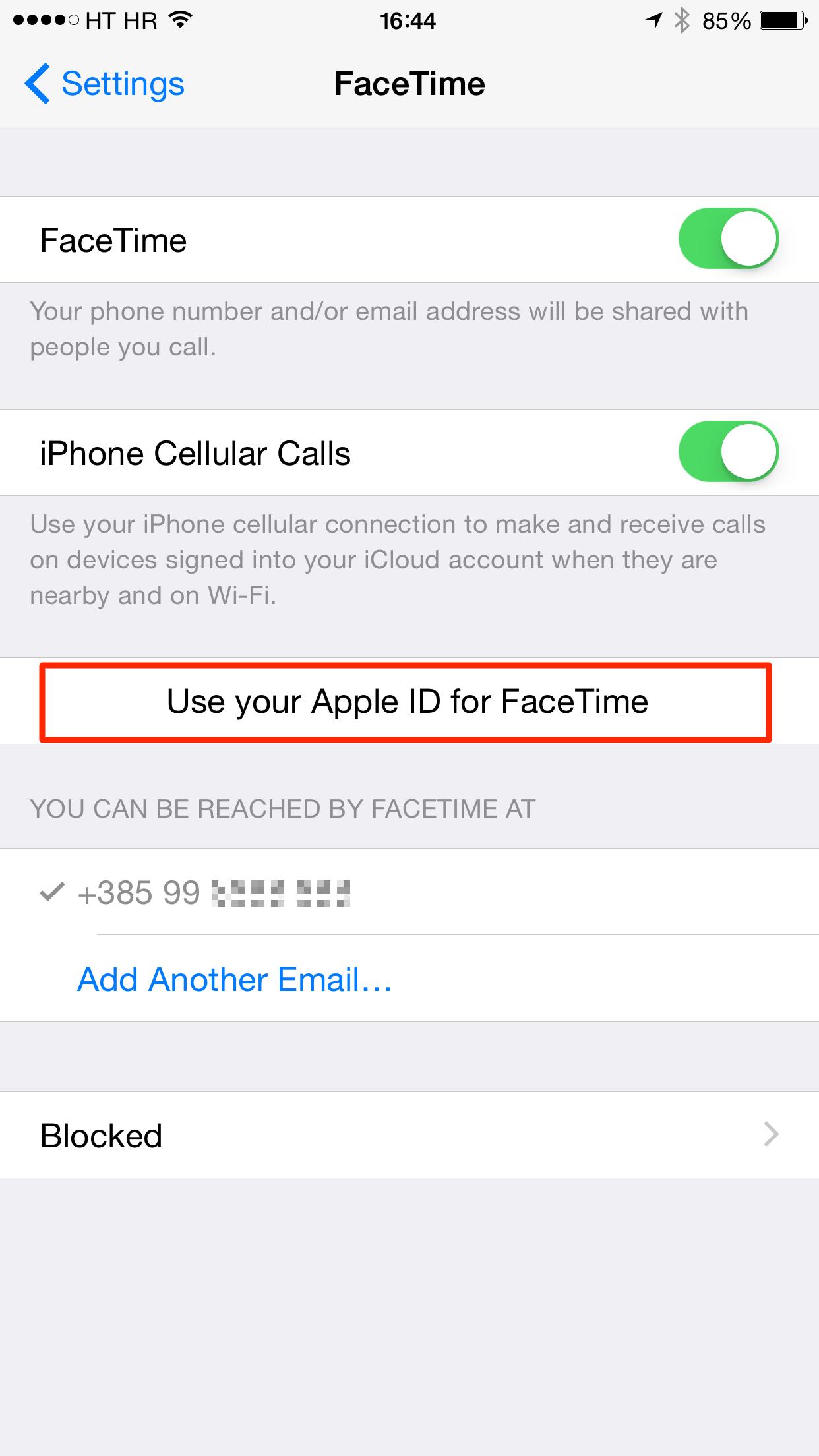 iOS 8 (FaceTime, iPhone Cellular Calls 003)