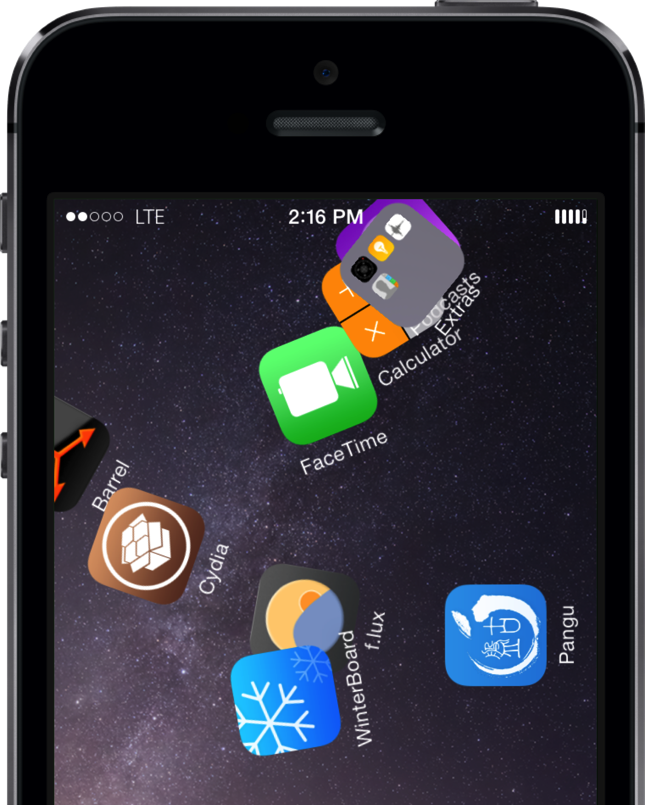 iOS 8 Jailbreak Screenshot