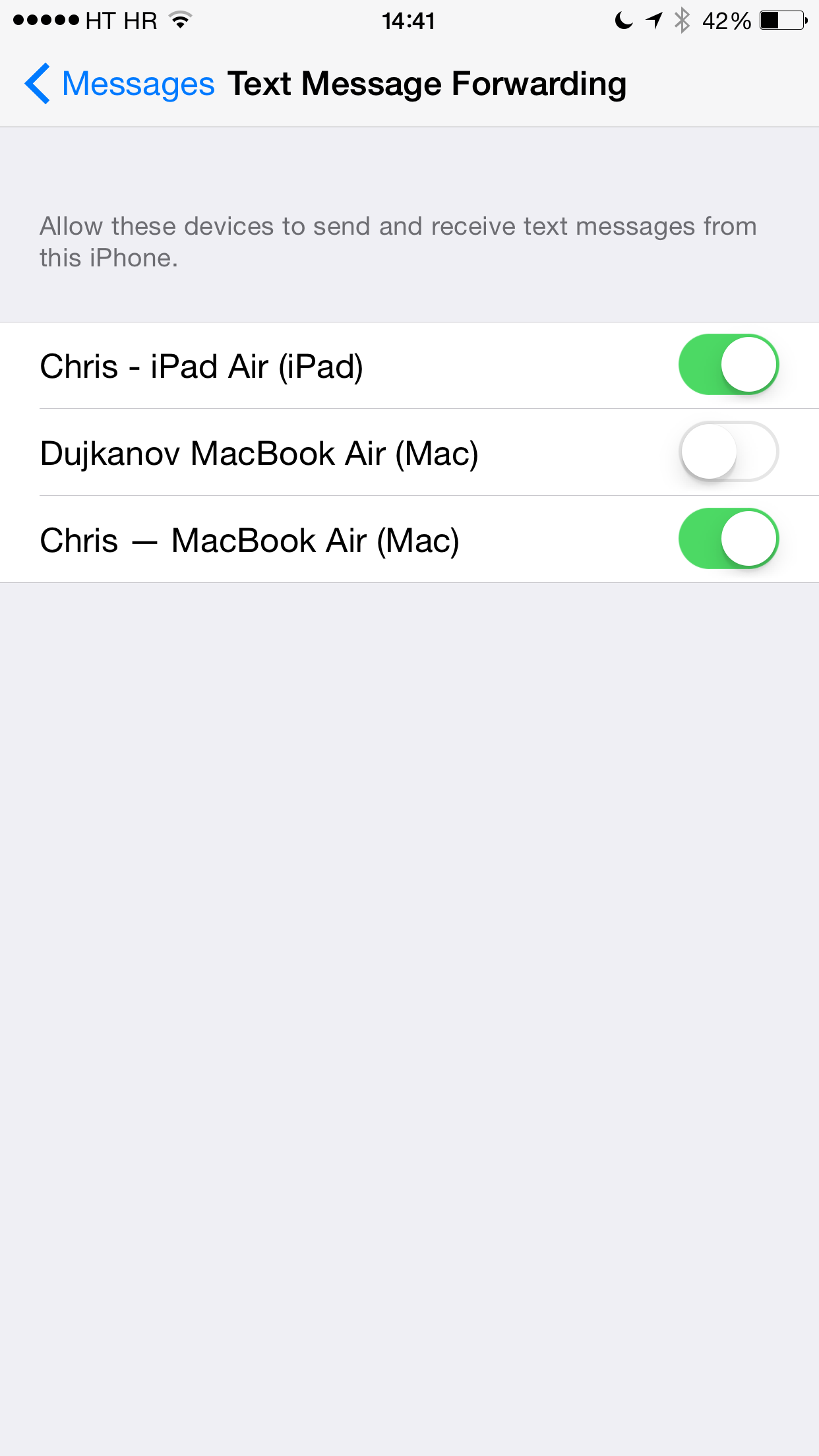 iOS 8 (Messages, Text Message Forwarding 006)