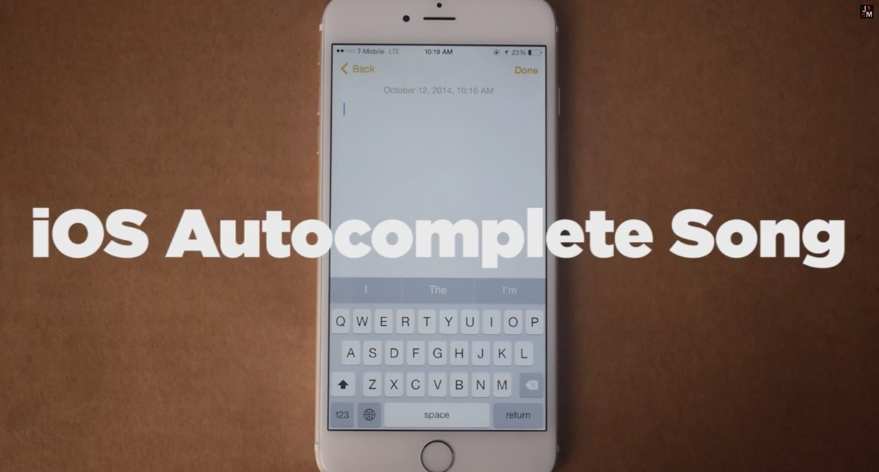 iOS Autocomplete song (Jonathan Mann)