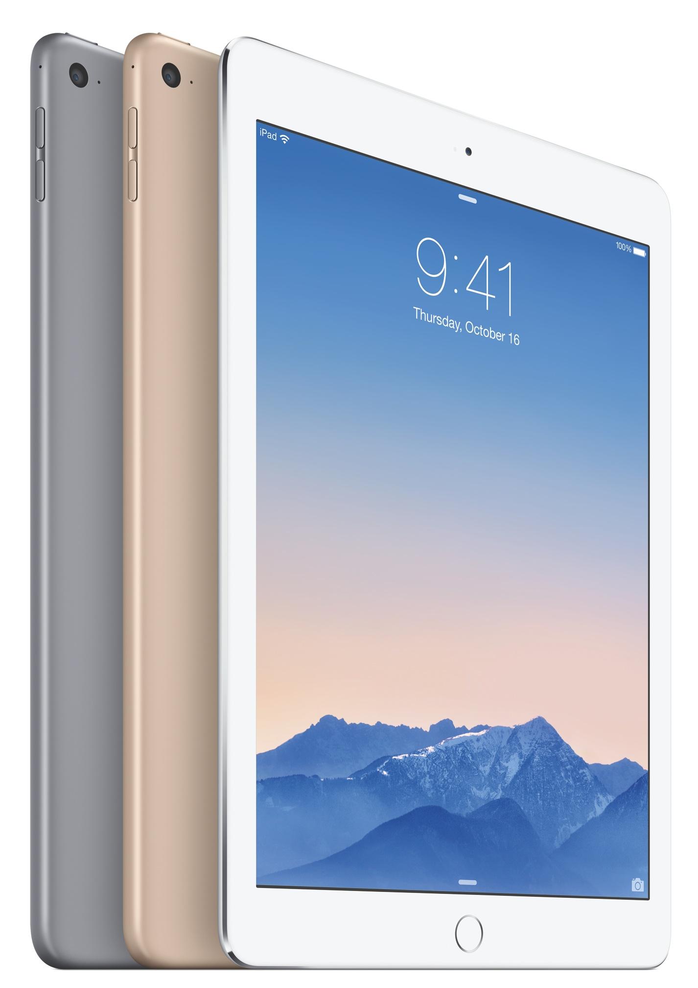 iPad Air 2 (Lock screen, Silver, Gold, Space Gray 002