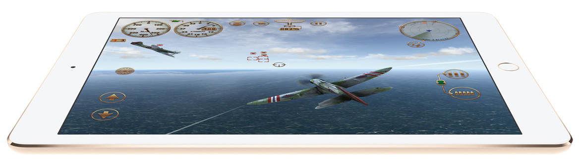 iPad Air 2 airplane game gold