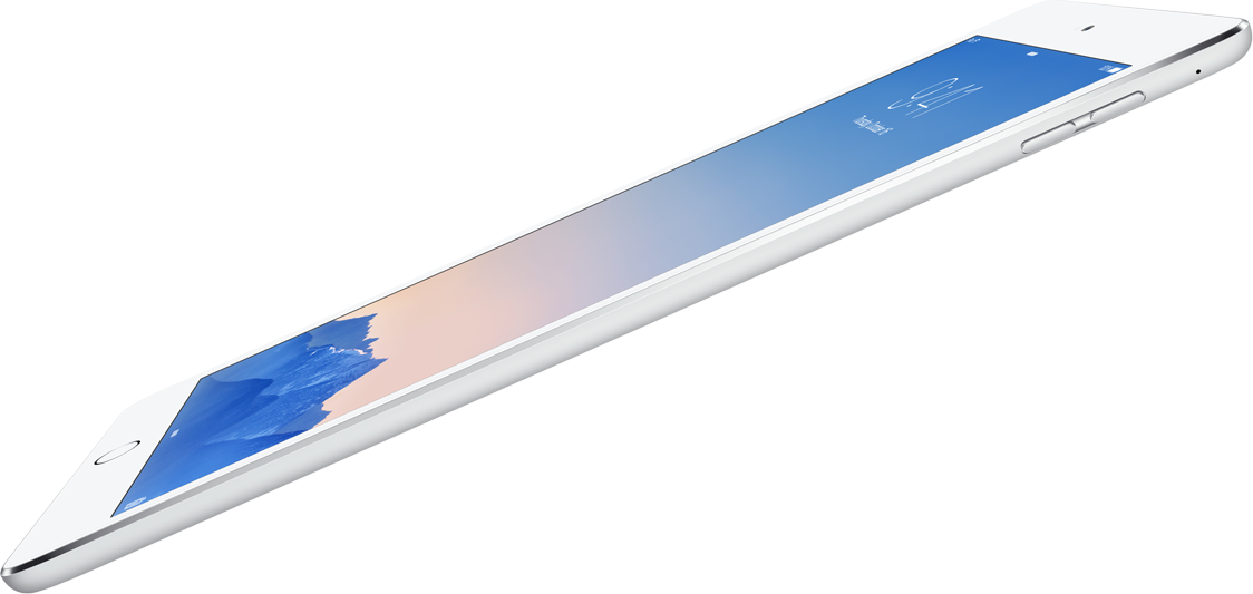 iPad Air 2 diagonal side