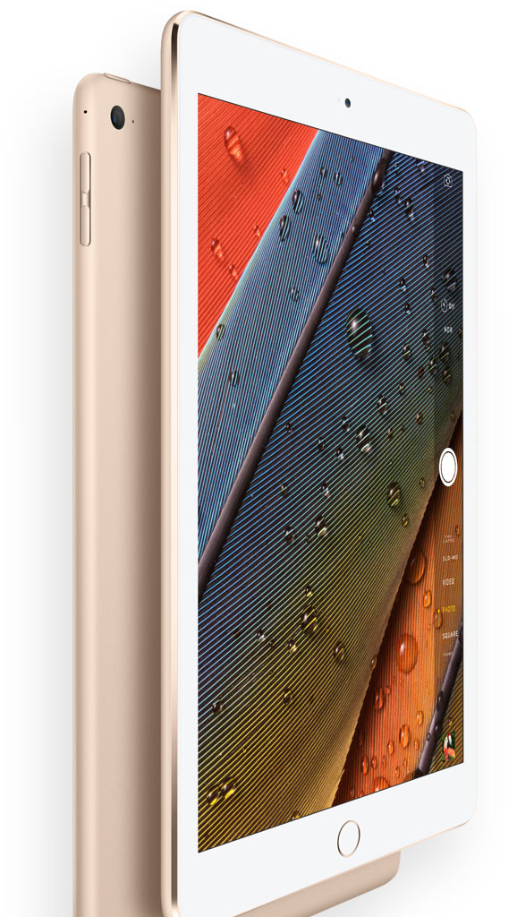 iPad Air 2 gold cameras