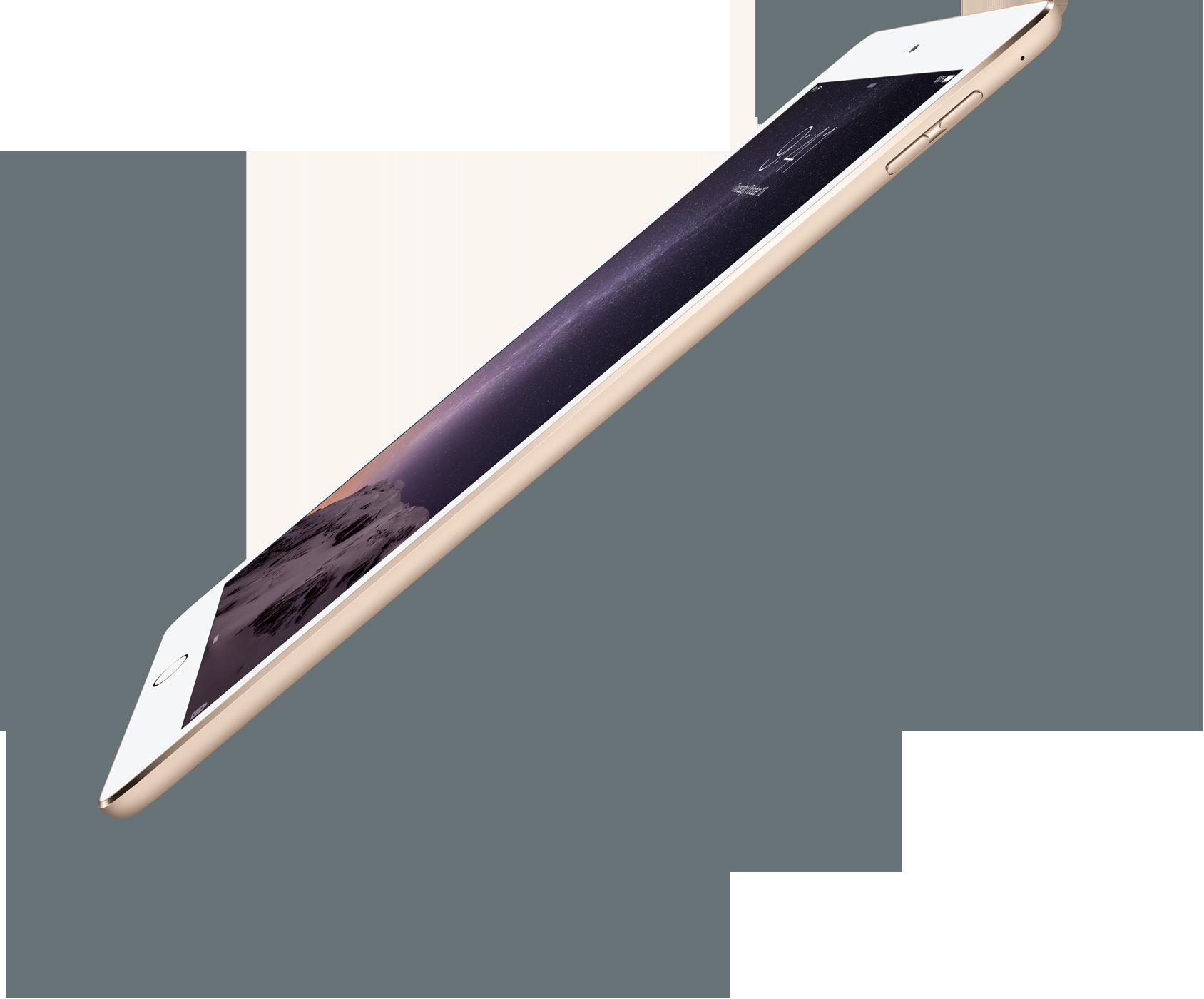 iPad Air 2 gold diagonal sideway