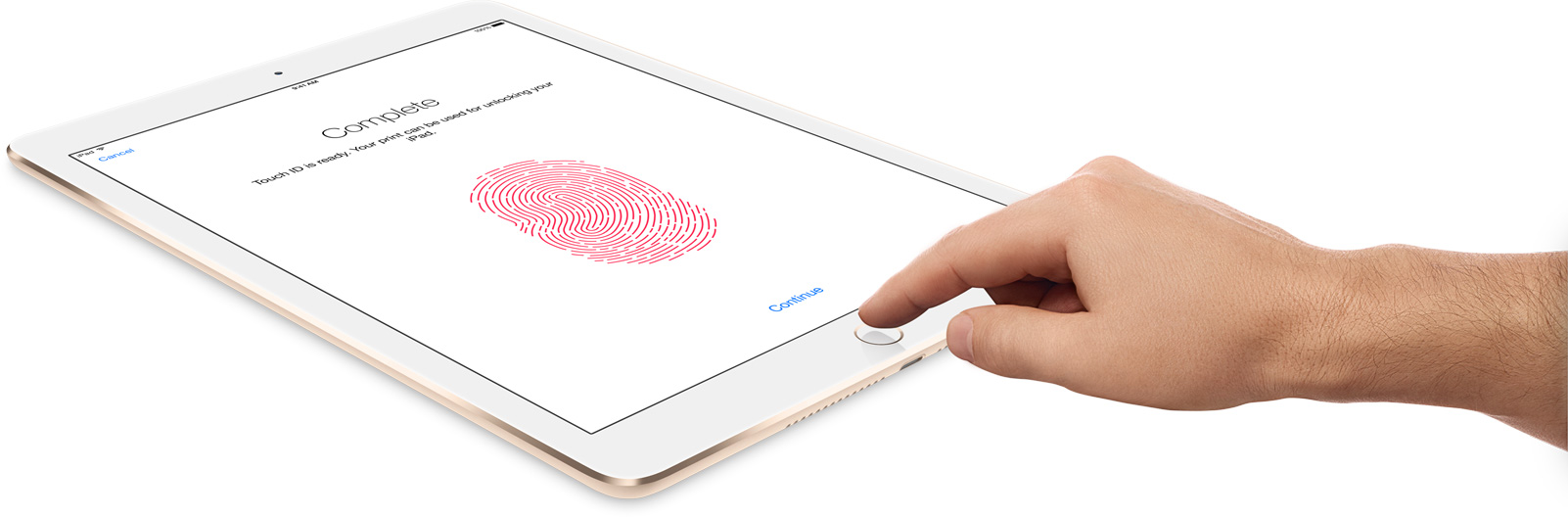 iPad Air 2 gold touch id
