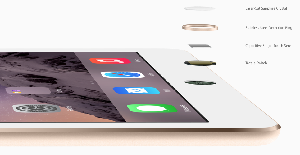 iPad Air 2 touch id technology