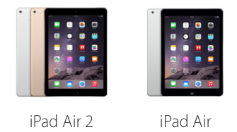iPad Air 2 vs iPad Air