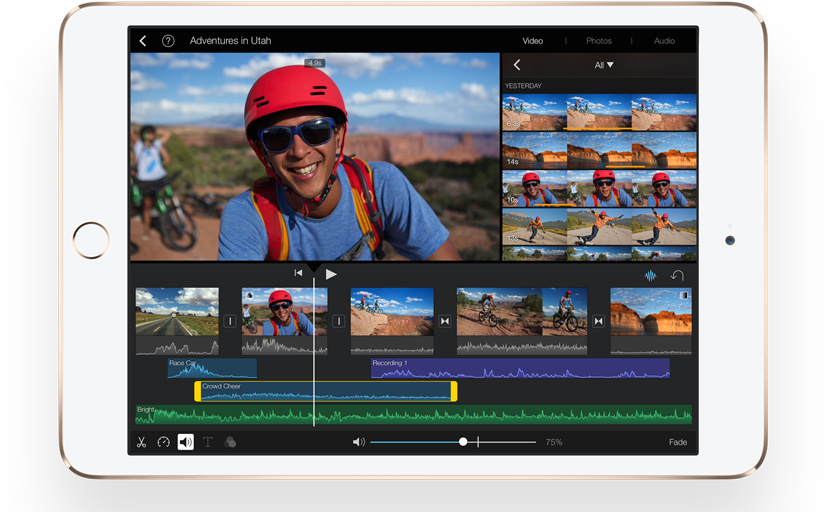 iPad mini 3 iMovie