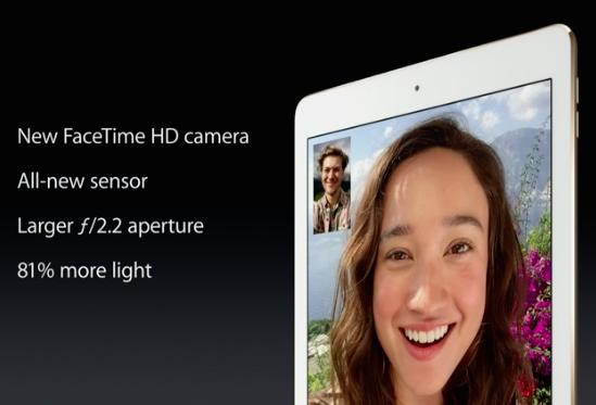 ipad air 2 facetime camera