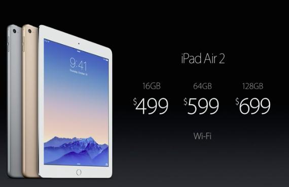ipad air 2 wifi price