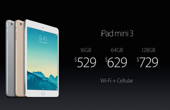 ipad mini 3 cellular price