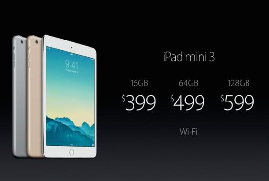 ipad mini 3 wifi price