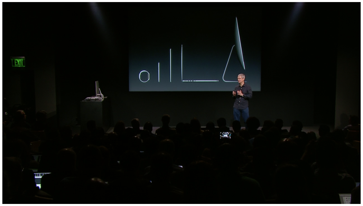 tim cook stage