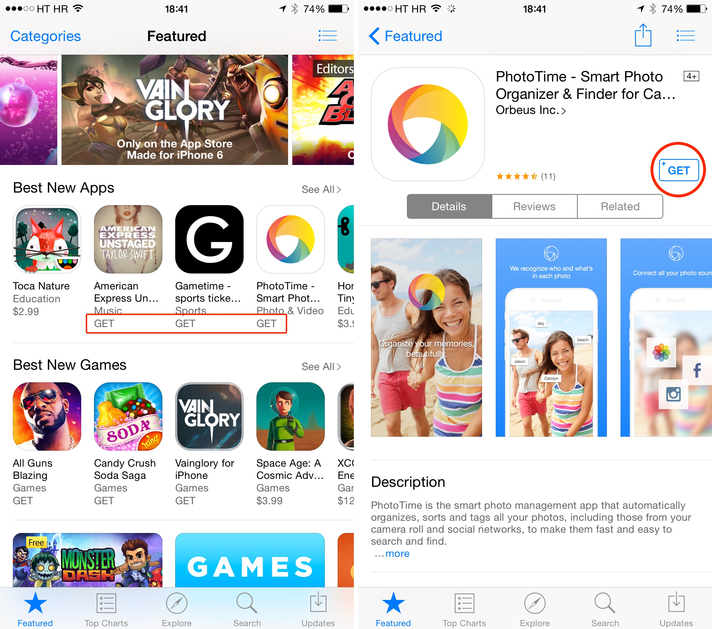 App Store (Get button)