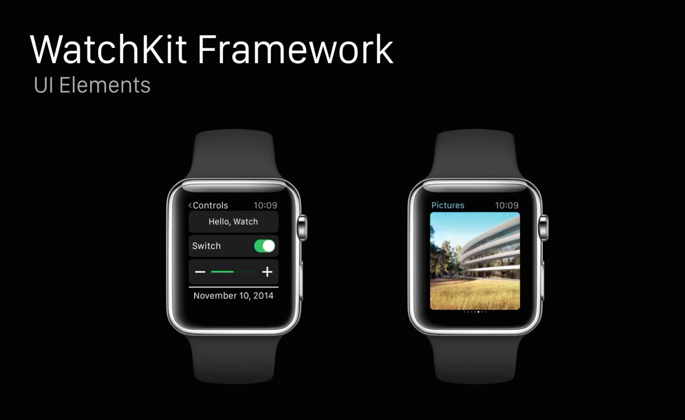 Apple Watch (Watchkit Framework, slide 001)
