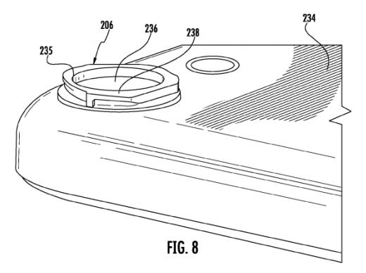 Cámara iPhone patente registrada