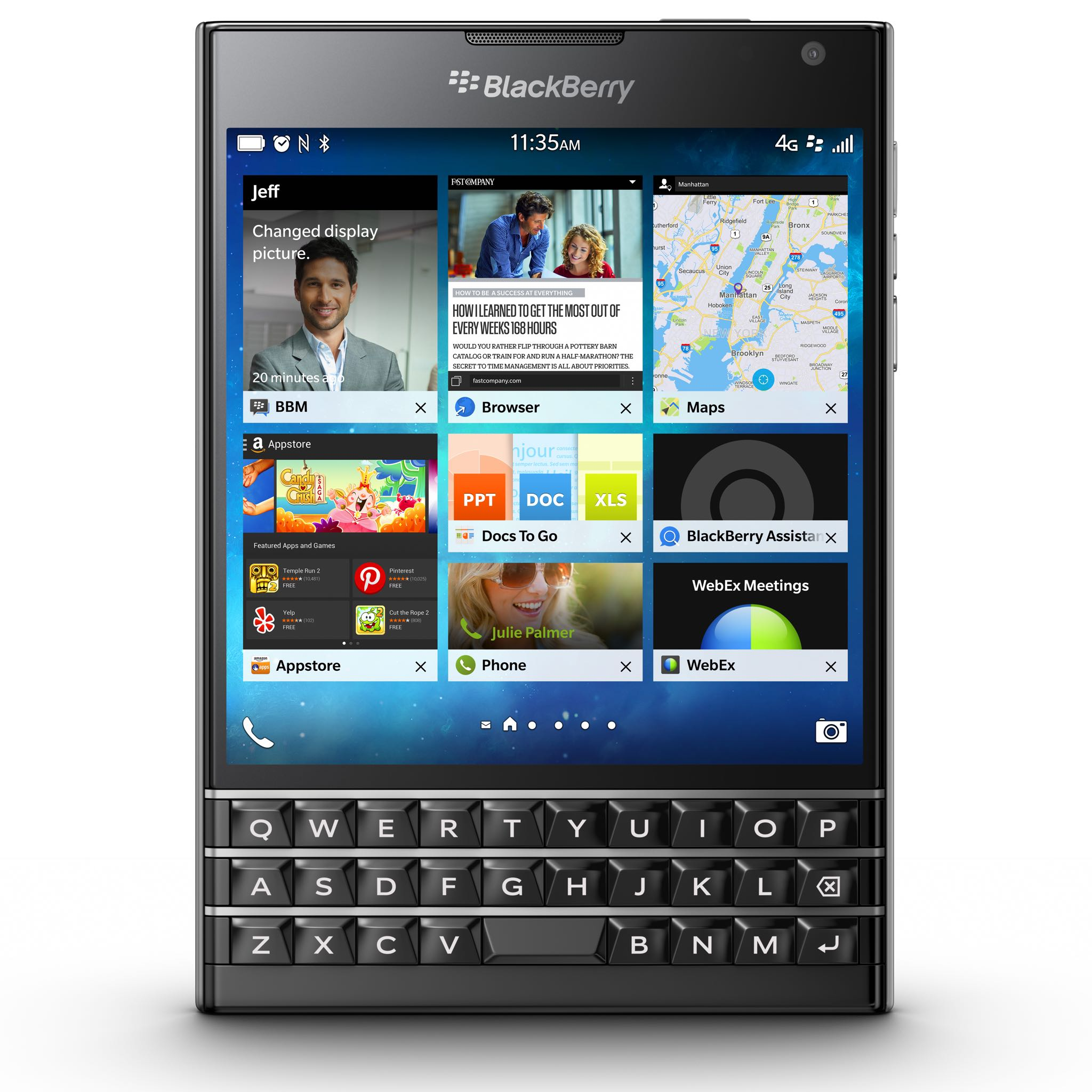BlackBerry Passport (black, front)
