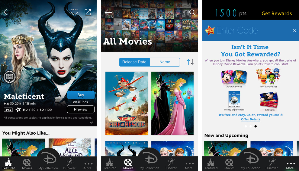 Disney Movies Anywhere 1.2.5 for iOS (iPhone screenshot 001)