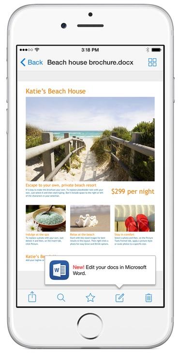 Dropbox para iOS (edición de Office)