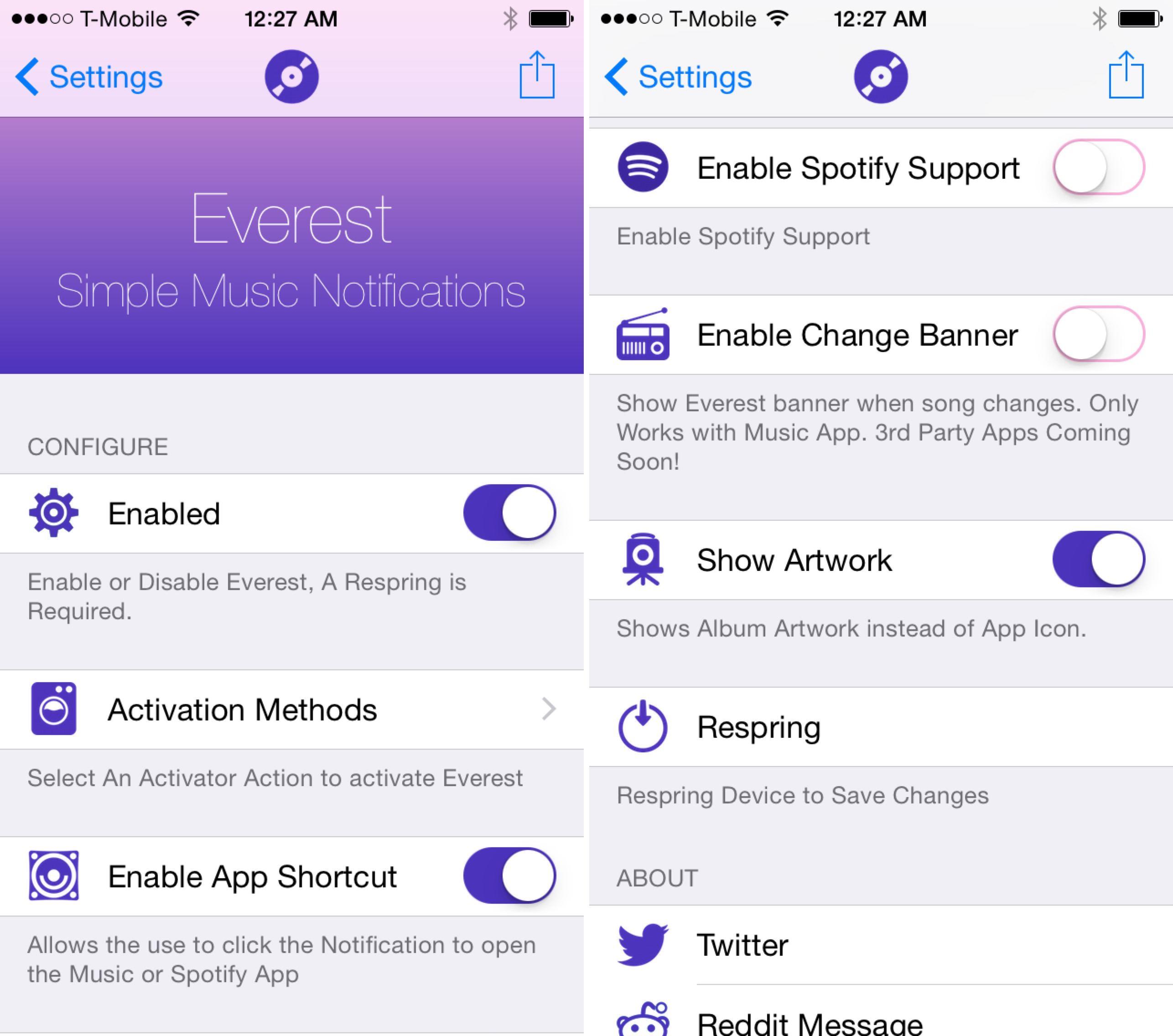 Everest Settings App