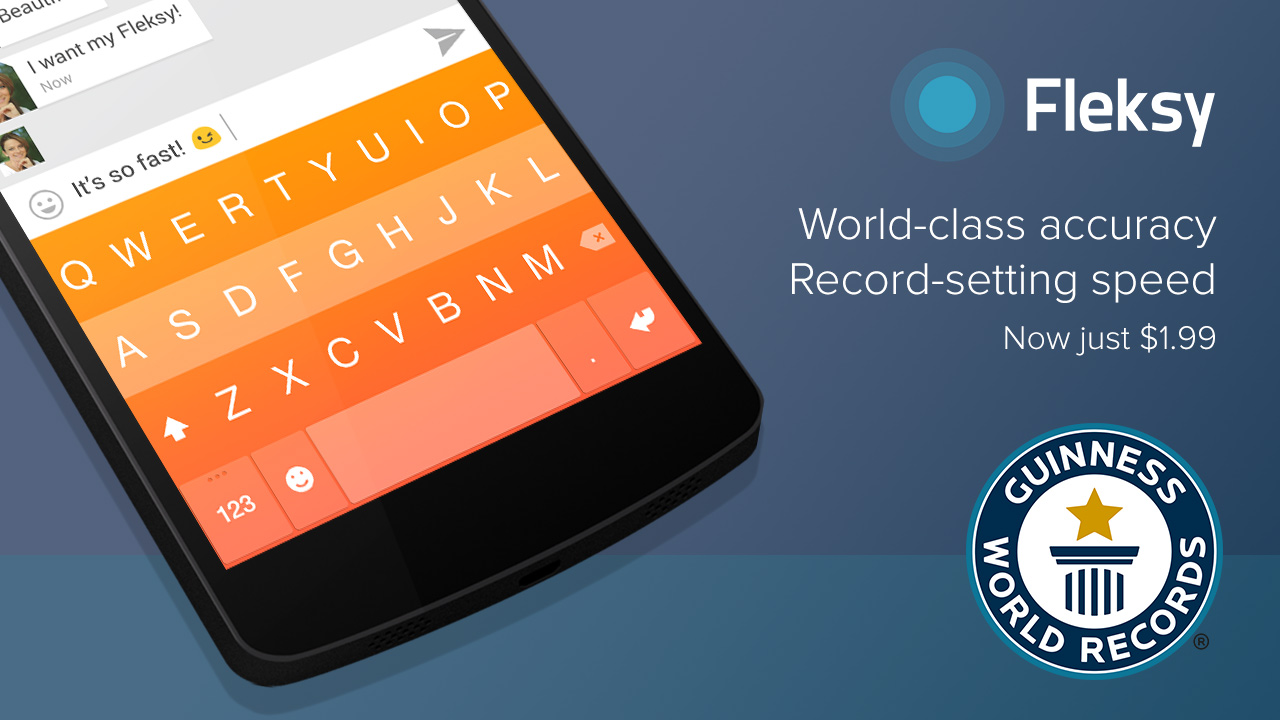 Fleksy Keyboard (second World Guiness Record teaser 001)