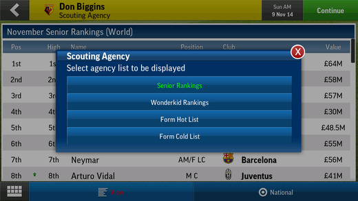Football Manager Handheld 2015 1.0 for iOS (iPhone screenshot 003)