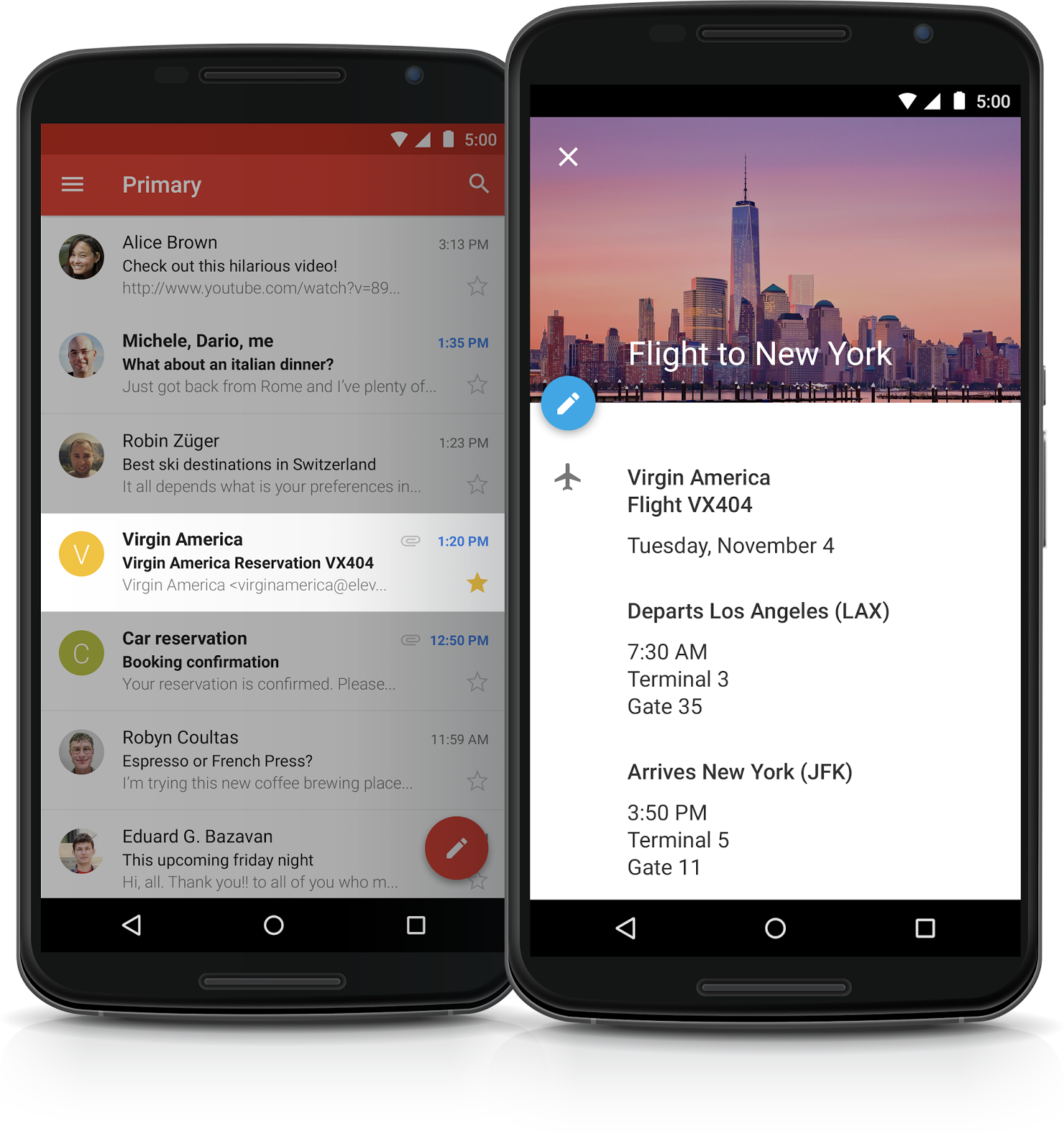 Google Calendar (Android, Material Design 001)