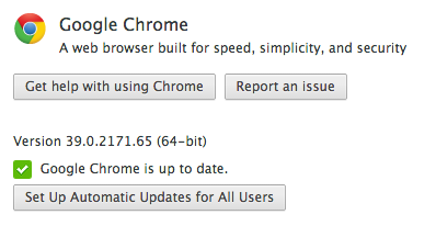 Google Chrome for Mac 64-bit (About screenshot)