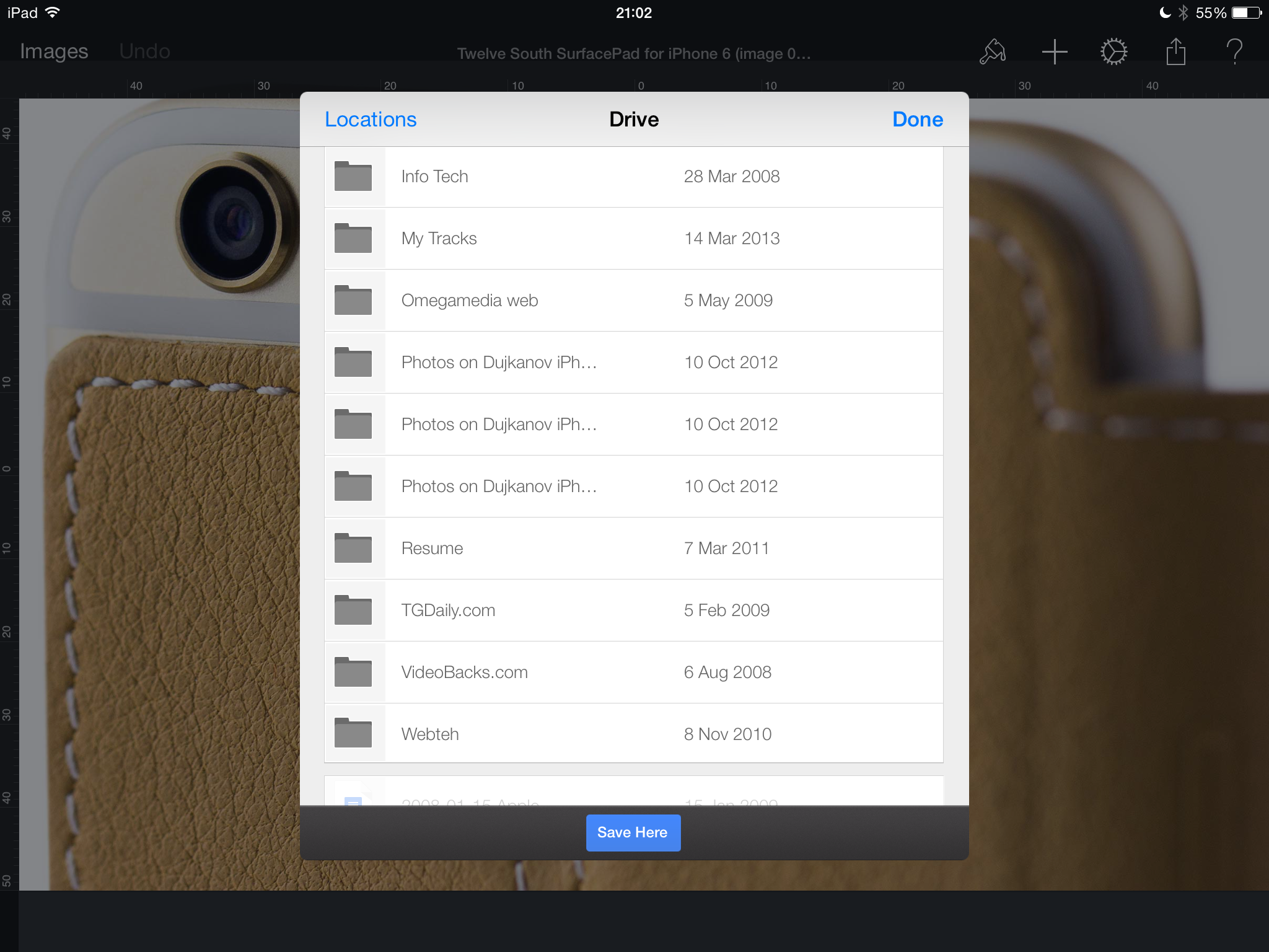 Google Drive 3.3 for iOS (iPad screenshot 004)