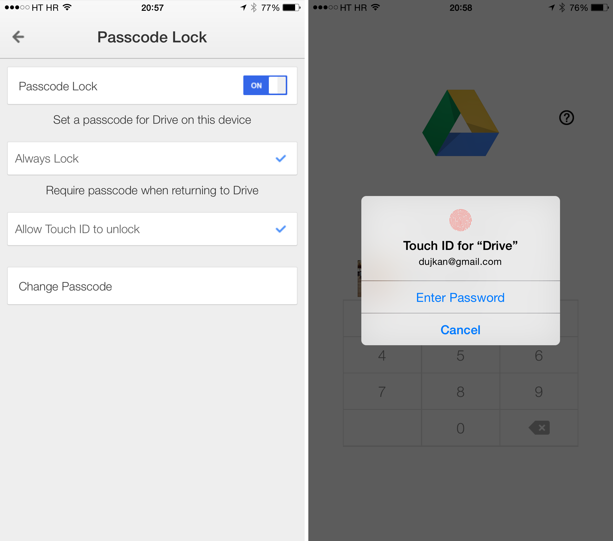 how to download from google drive onto iphone
