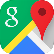 Google Maps 4.0 for iOS (app icon, small)