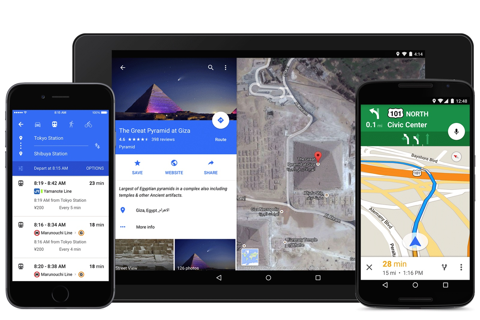 Google Maps for iOS (Material Design 001)