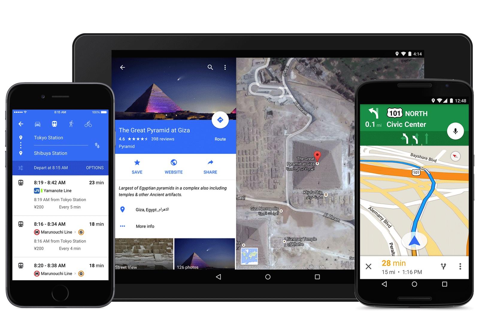 Google Maps for iOS (Material Design 001)