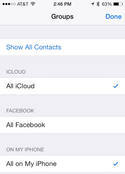 How to merge Facebook iOS Contacts