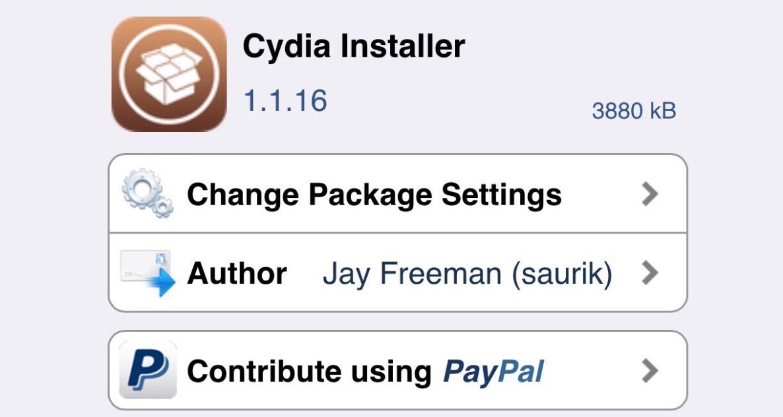 Cydia installer 1.1.16