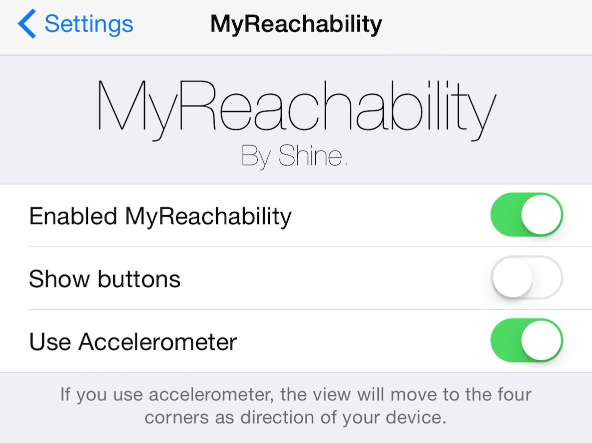 MyReachability Settings