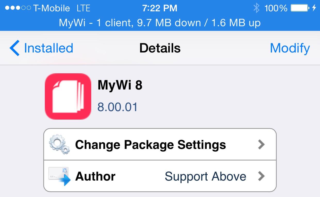 MyWi 8 Beta