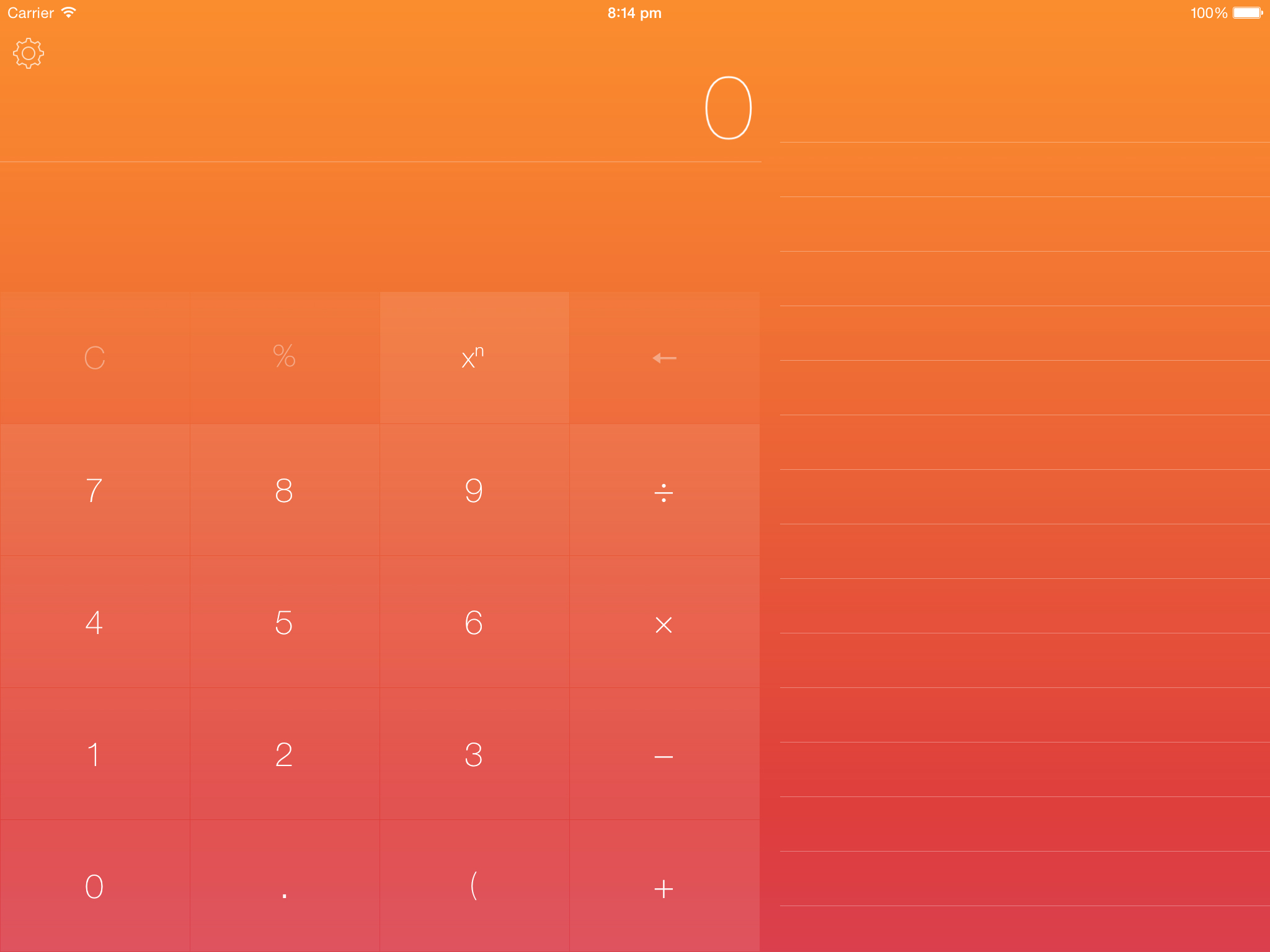 Numerical 1.2 for iOS (iPad screenshot, themes 001)