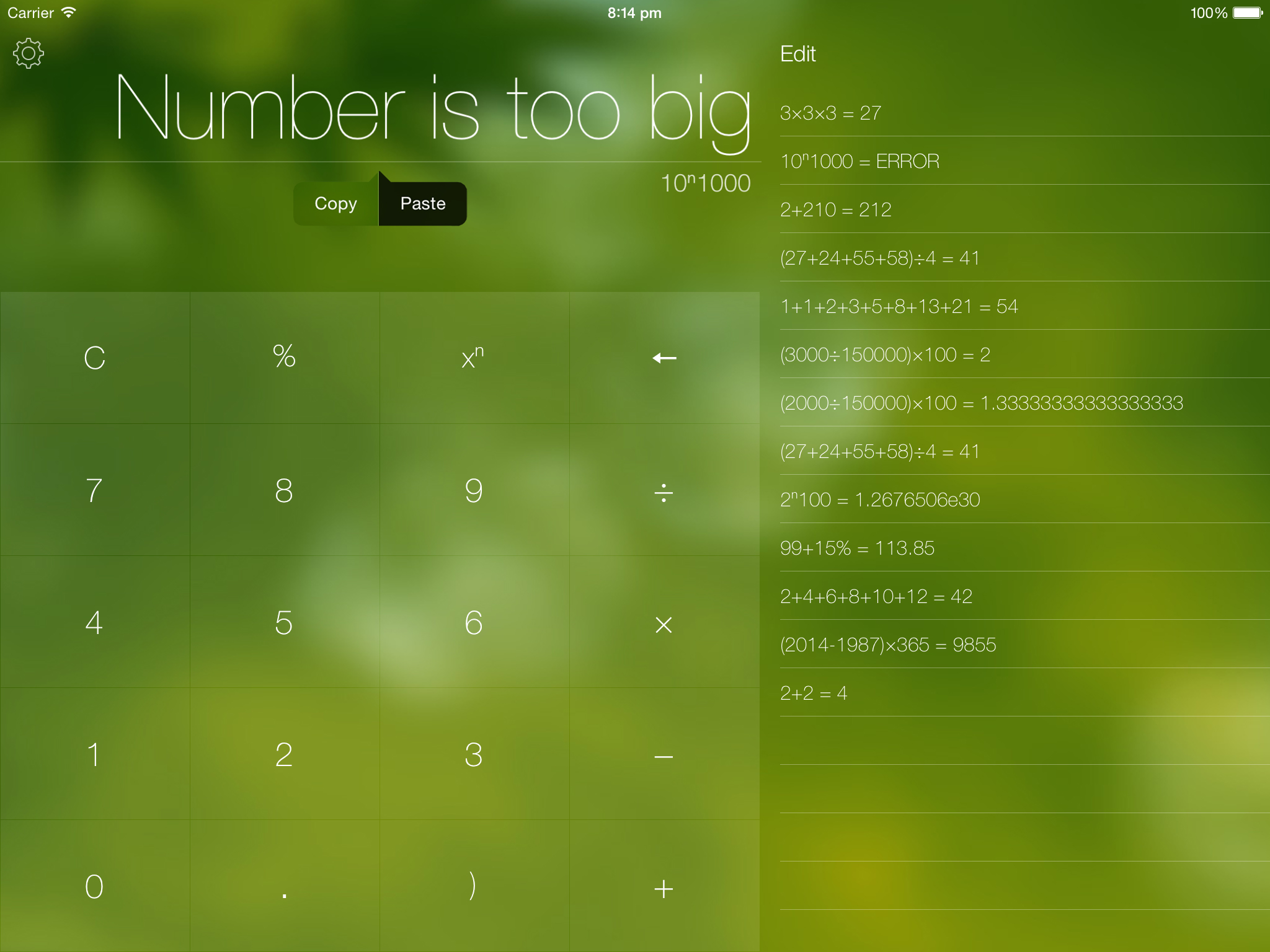 Numerical 1.2 for iOS (iPad screenshot, themes 003)