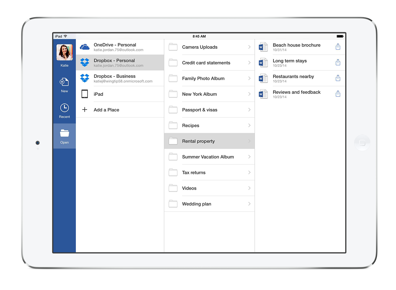 Office for iPad (Dropbox integration 003)