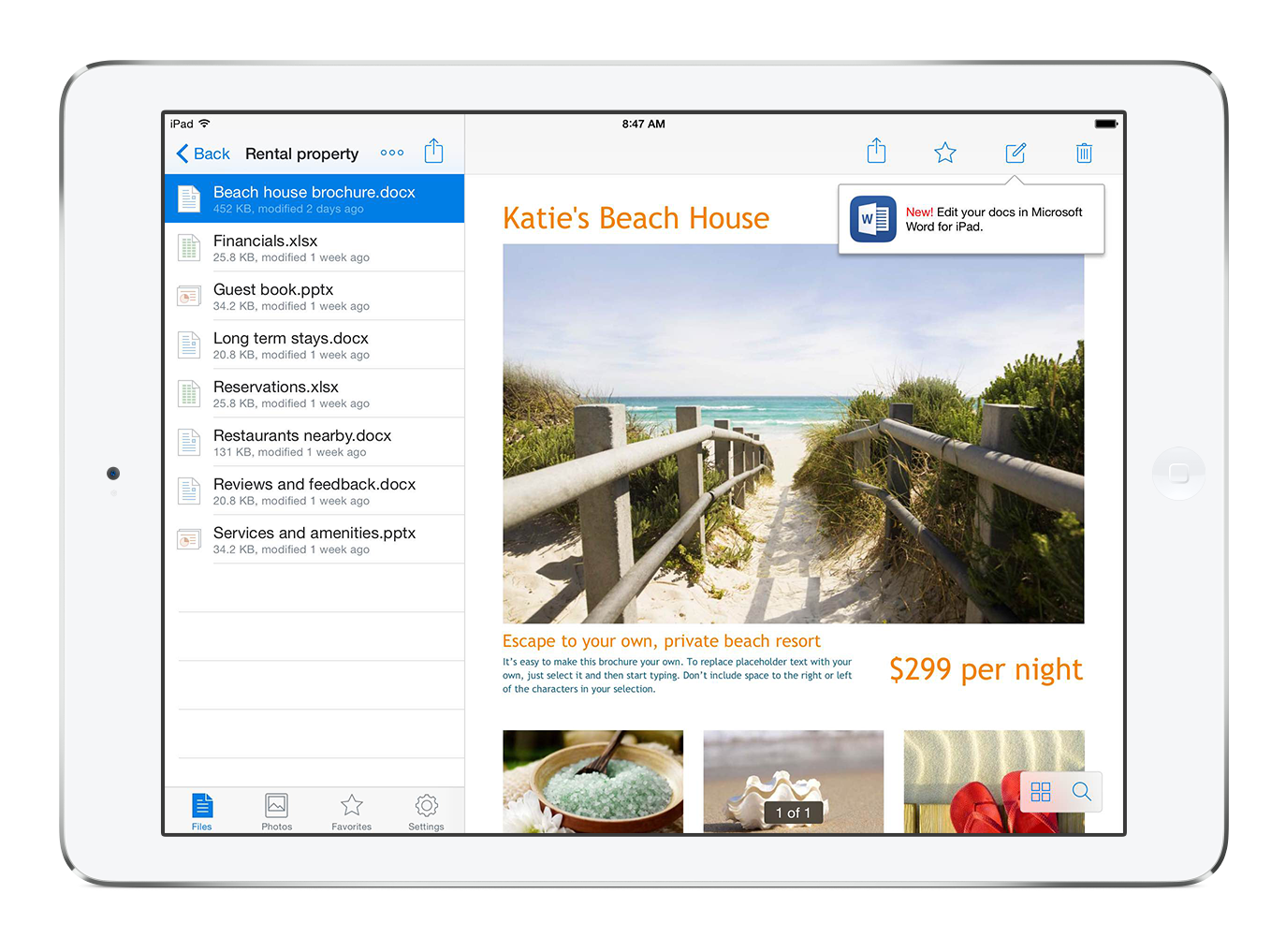 Office for iPad (Dropbox integration)