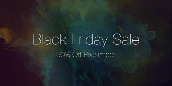 Pixelmator 2014 Black Friday sale