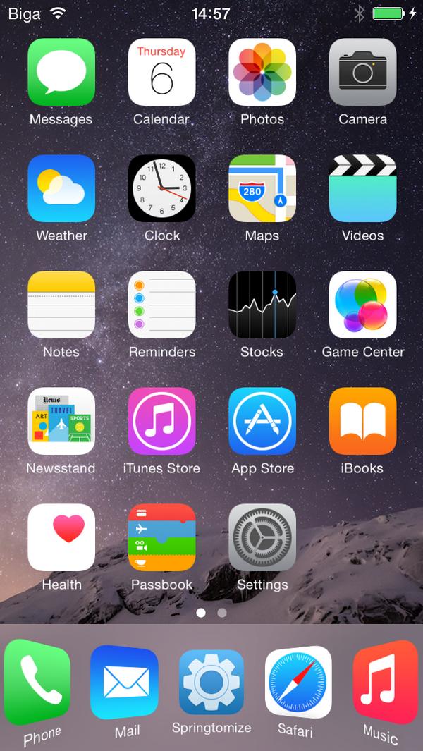 Springtomize iOS 8