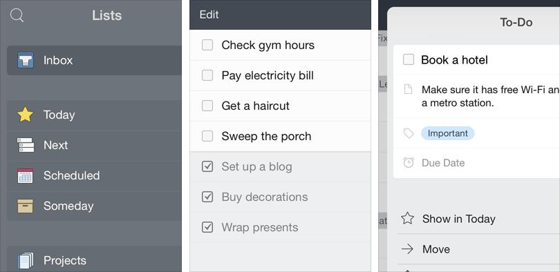 Things 2.5 for iOS (iPad screenshot 001)