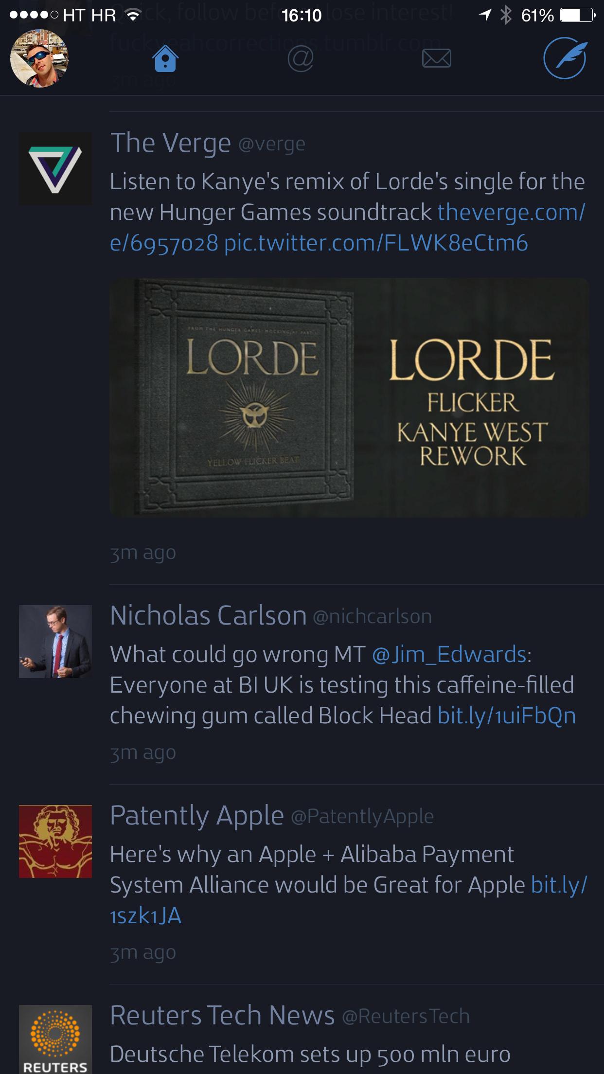 Twitterrific 5.8.2 for iOS (iPhone 6 screenshot 001)