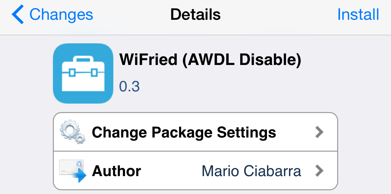 WiFried Cydia