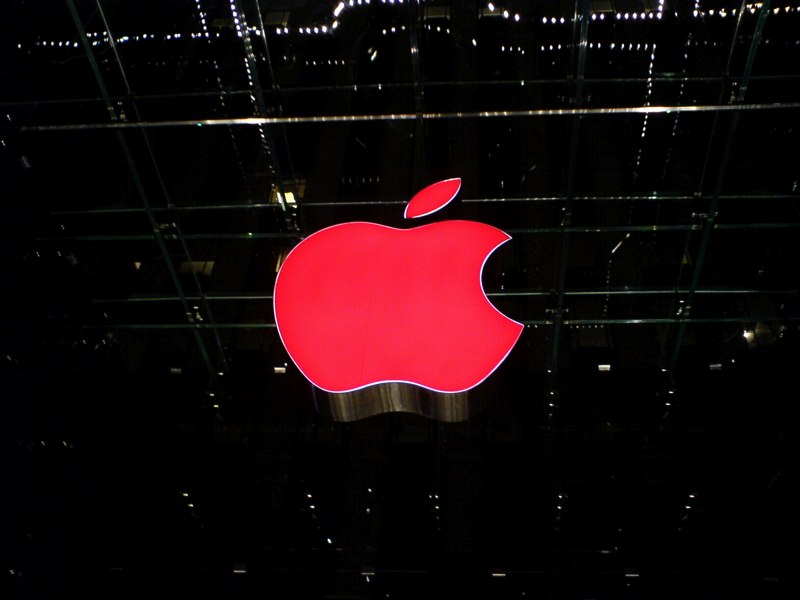 apple red logo aids day
