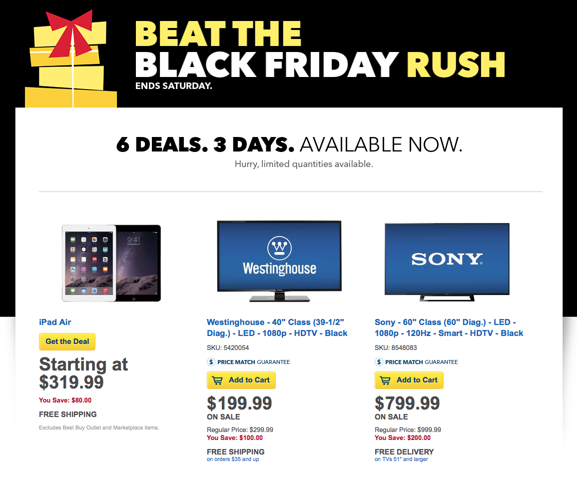 Best Buy Launches Pre-Black Friday Sale With Discounts On