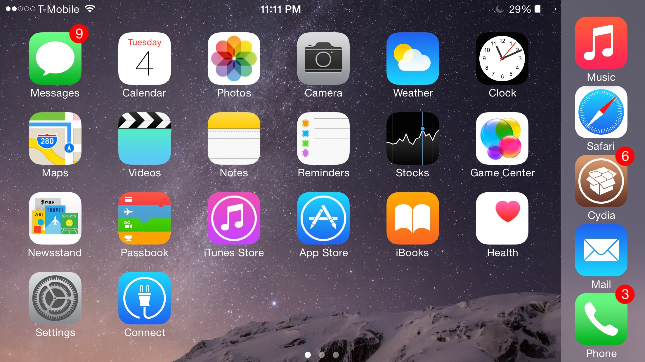 betterFiveIconDock iPhone 6 Plus